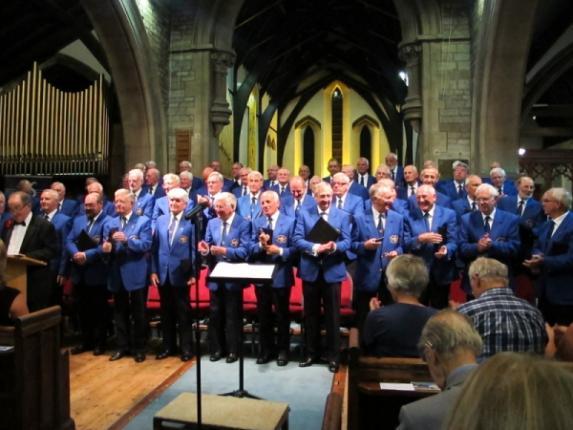 Radcliffe Male Voice Choir at exhibition concert