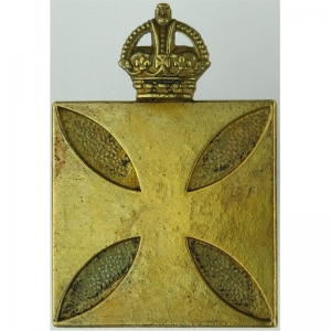 royal-army-chaplains-department-christian-square-type---solid-kings-crown-gilt-officers-metal-cap-badge