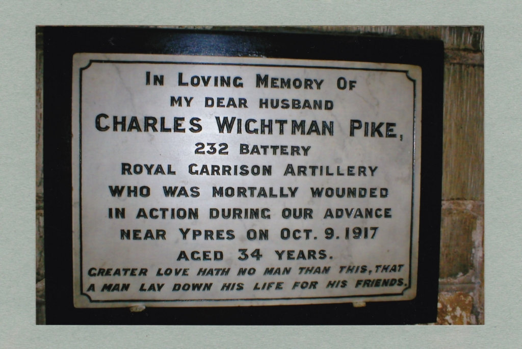 Charles Wightman Pike plaque church