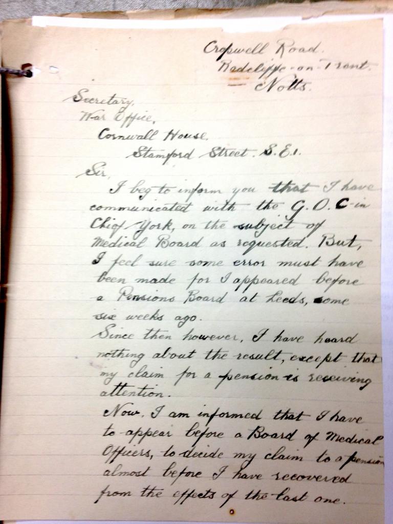 J S Eason undated p1, prob end Jan 1920