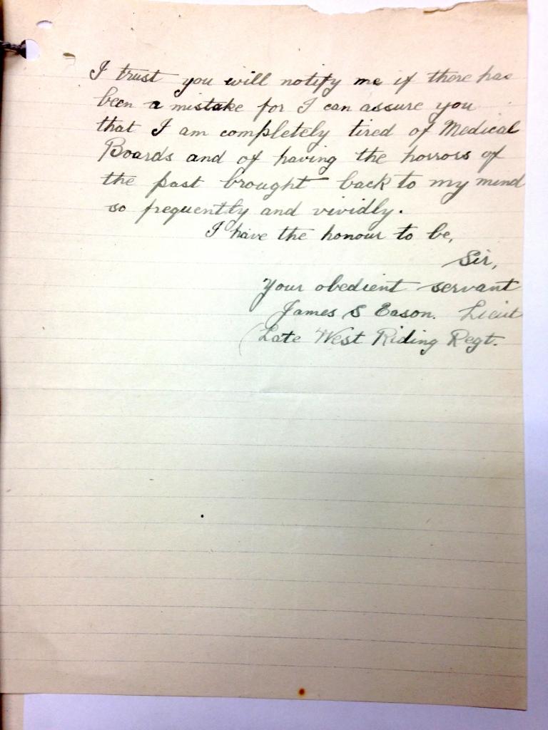 J S Eason undated p2, prob end Jan 1920
