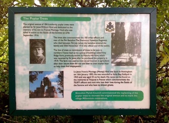 Kinoulton memorial Somme