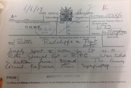 Ritter telegram