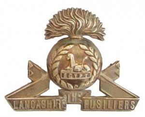Ww1-The-Lancashire-Fusiliers-Badge-Silver-Original