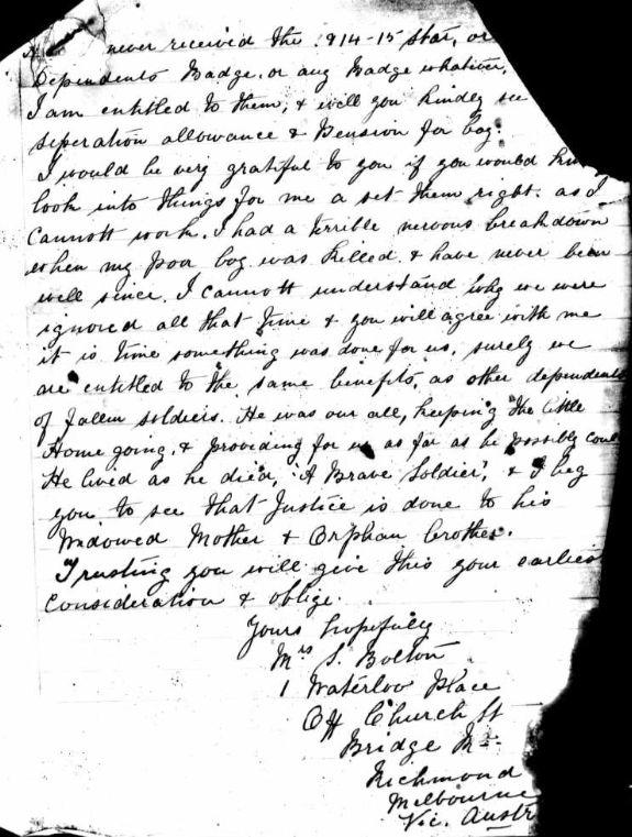 Letter Bolton