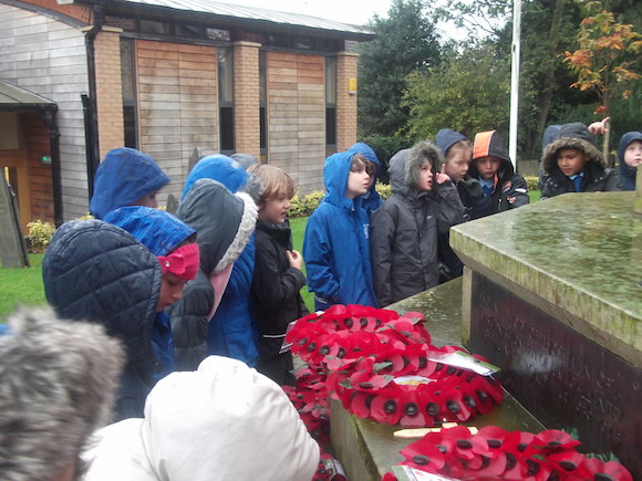 Pupils visit Radcliffe War Memorial
