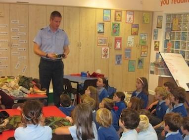 School visit by RAF serviceman