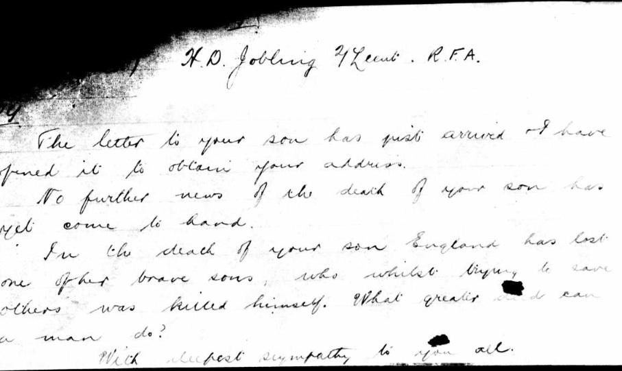 Talbot letter