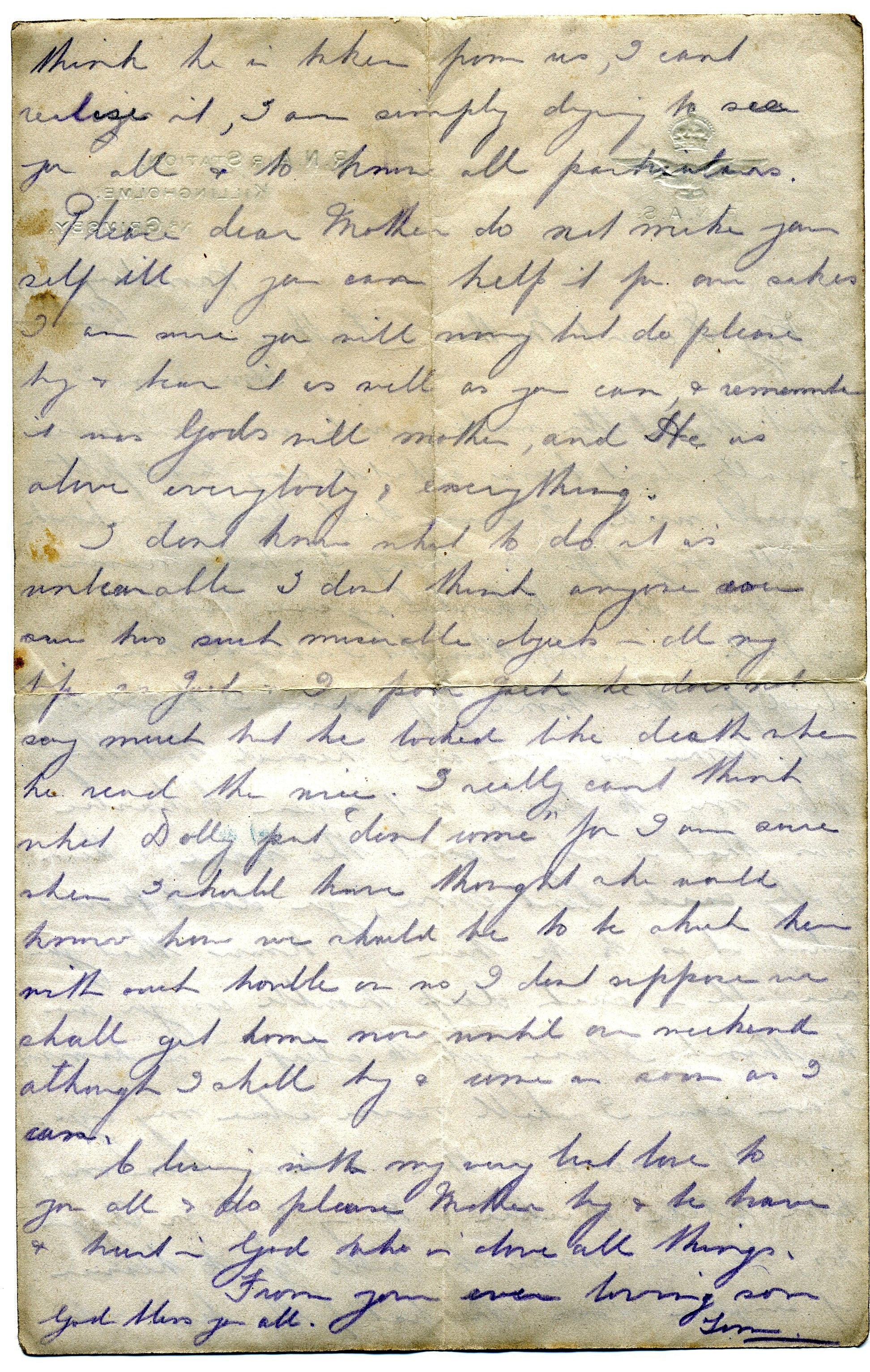 a letter home from vimy ridge