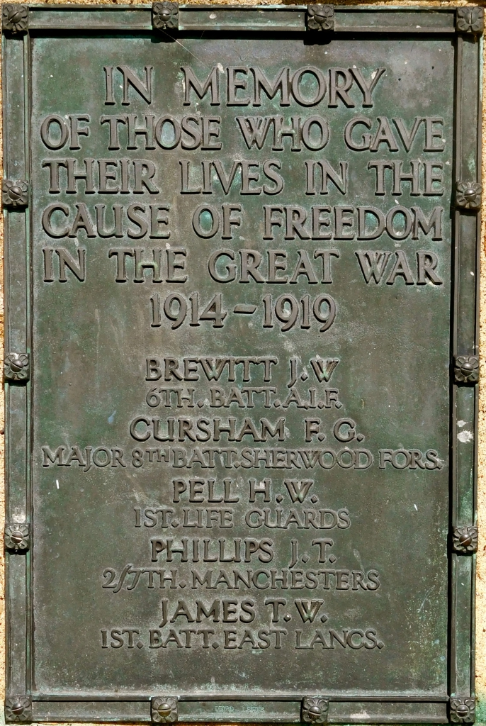 Holme Pierrepont plaque those killed