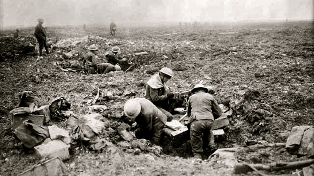 Canadian machine gunners Vimy Ridge