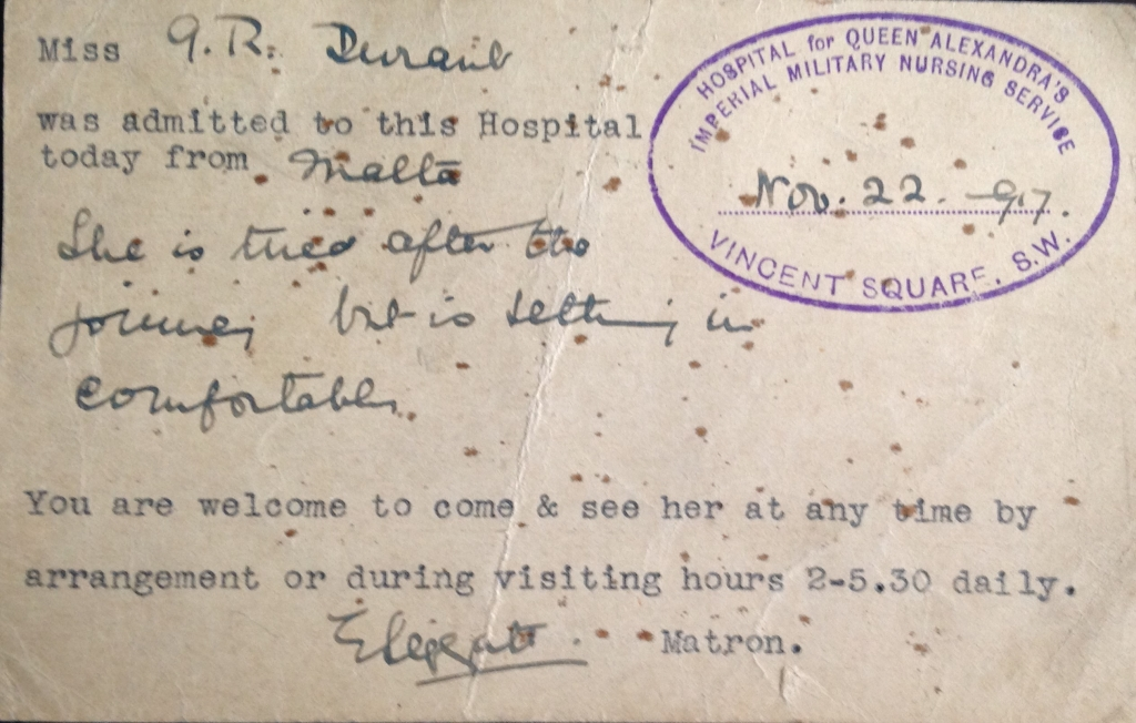 Postcard from hospital