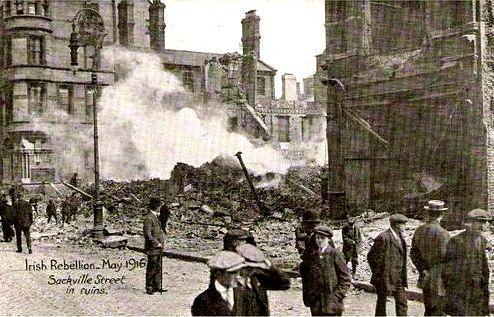 Sacknville Street after Easter uprising