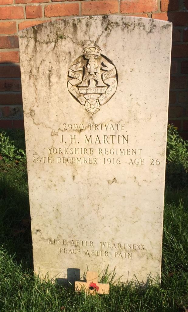 J H Martin grave