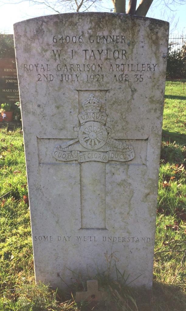 W J Taylor gravestone