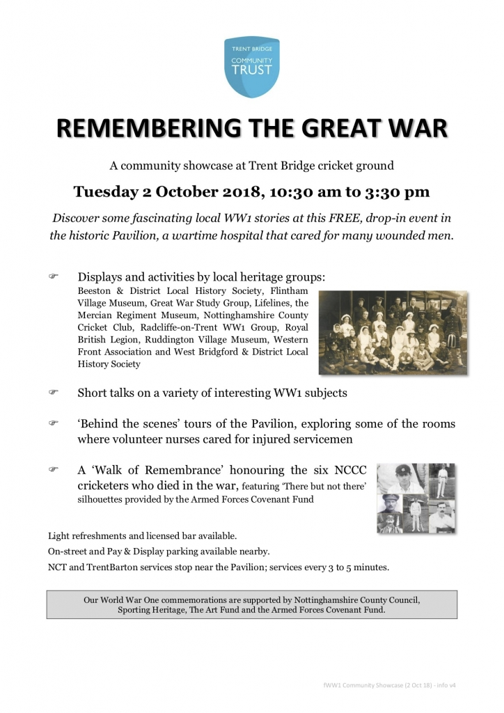 WW1 Community Showcase (2 Oct 18) - info v4